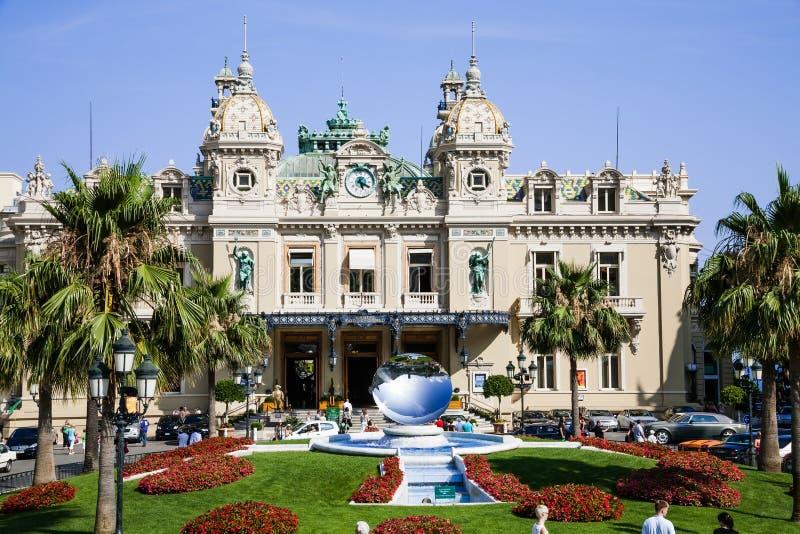 Het Grote Casino van Monaco stock afbeeldingen