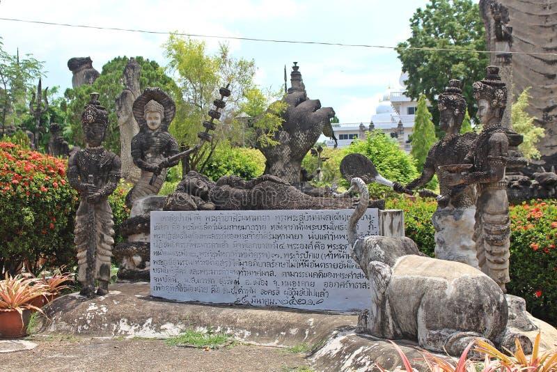 Het grote cijfer dat tot Boeddhisme en Brahmaan behoort stock afbeelding