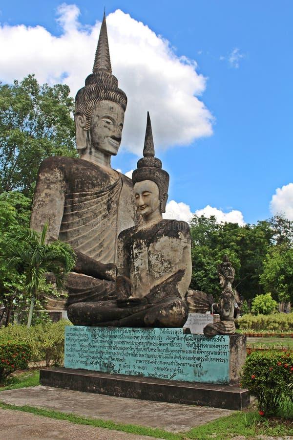 Het grote cijfer dat tot Boeddhisme en Brahmaan behoort stock afbeeldingen