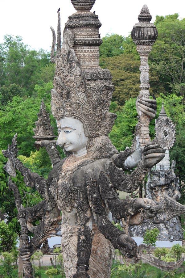 Het grote cijfer dat tot Boeddhisme en Brahmaan behoort stock fotografie