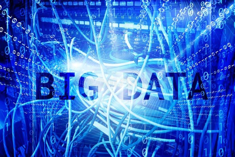 Het grote Concept van het Gegevenscentrum De server communicatie van het informatiegegevensbestand bedrijfswebtechnologie royalty-vrije stock foto