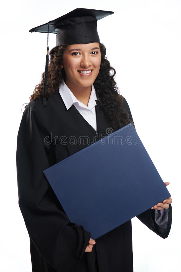 Het grote diploma van de studentengreep royalty-vrije stock fotografie