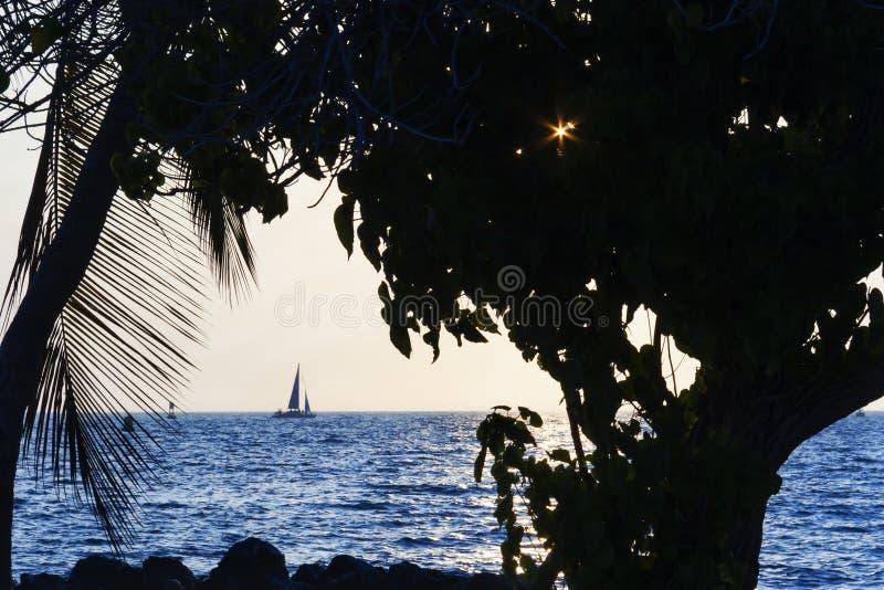 Het Grote Eiland van de Kawahaehaven, Hawaï stock afbeelding