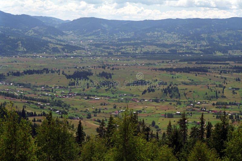 Het grote gebied van saruDornei van de bergvallei stock fotografie