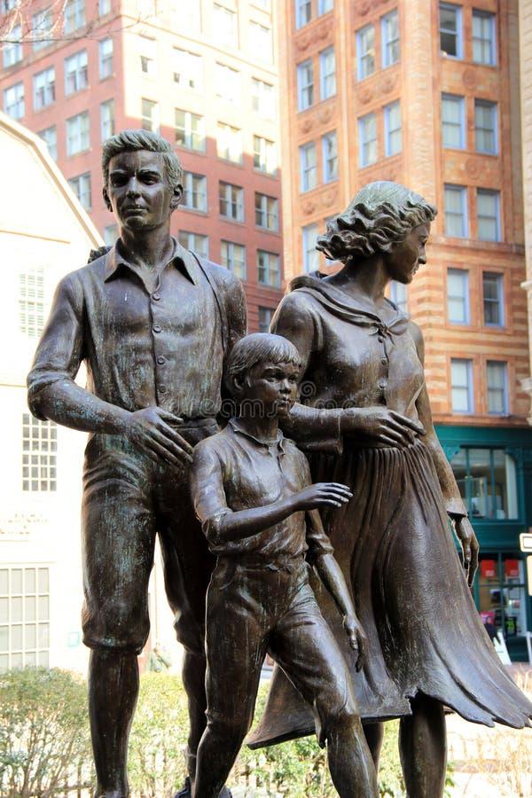 Het grote gedenkteken van de aardappelhongersnood, Boston, 2014 royalty-vrije stock afbeeldingen
