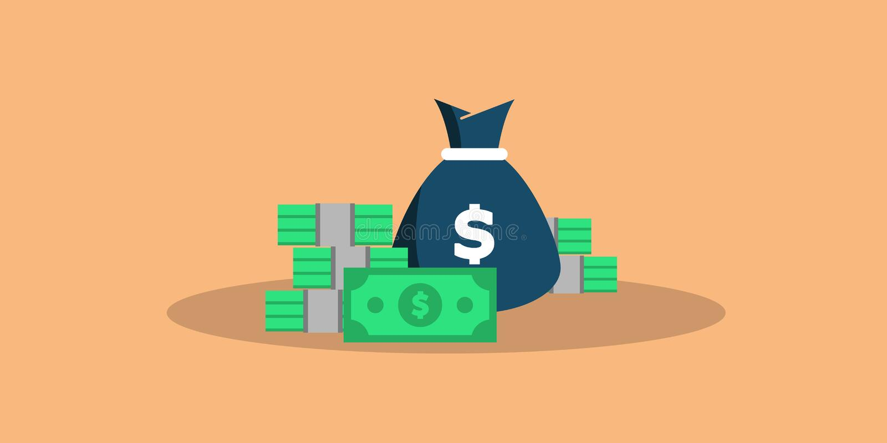 Het grote geld van het concept Grote stapel van contant geld Honderden Dollars Vector isometrische illustratie Vector royalty-vrije illustratie