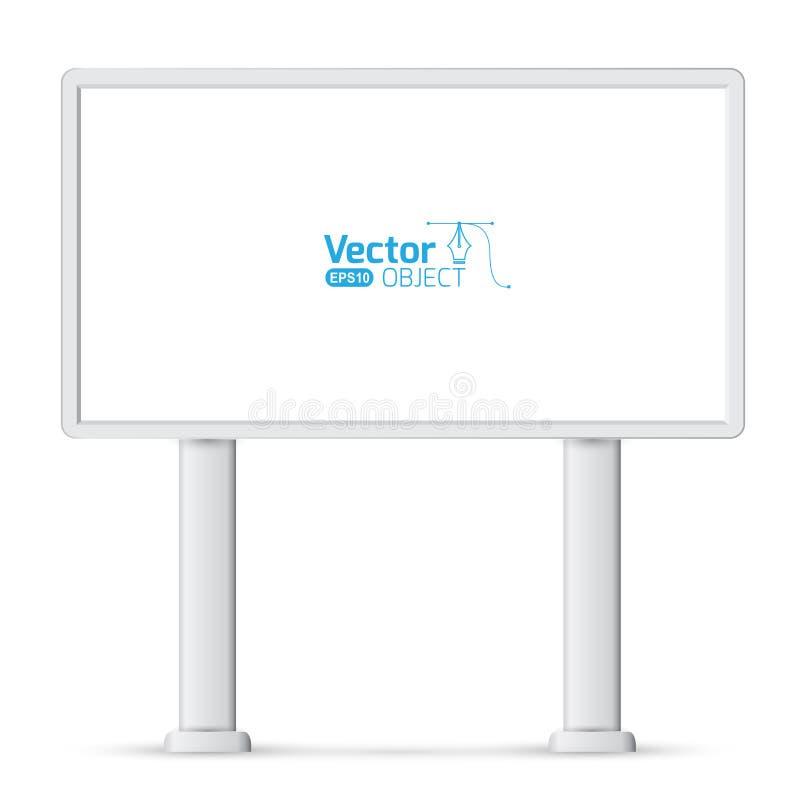 Het grote lege, lege, witte aanplakbordscherm stock illustratie