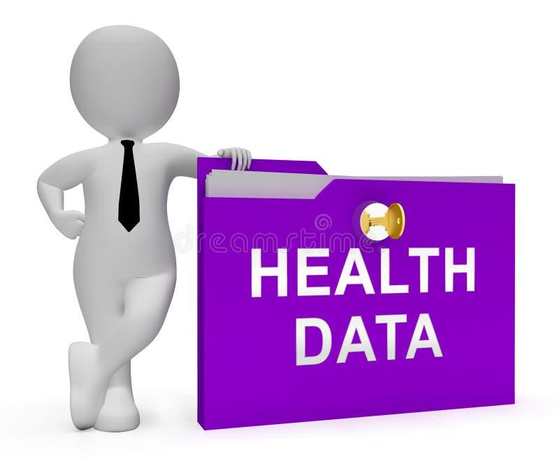 Het grote Medische het Gegevensbestand van de Gegevensgezondheid 3d Teruggeven royalty-vrije illustratie