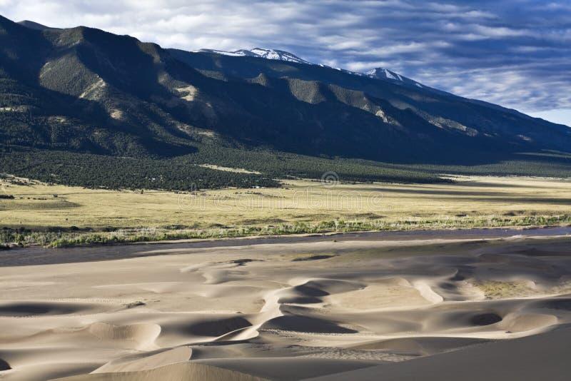 Het grote Nationale Park van de Duinen van het Zand stock afbeelding