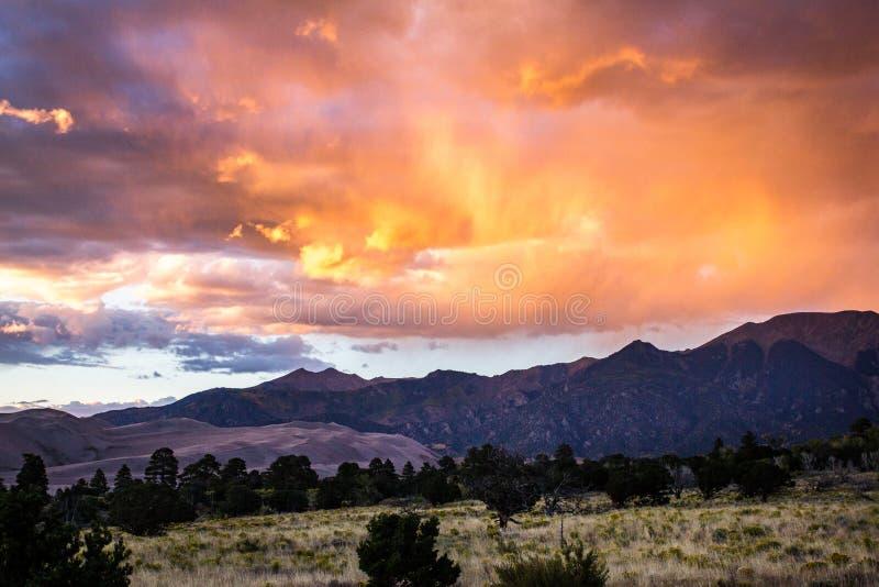 Het grote Nationale Park van Zandduinen stock afbeeldingen