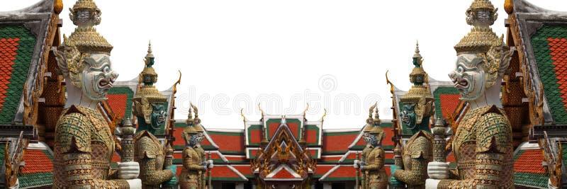 Het Grote Paleis Bangkok van Wat Phra Kaew van de Beschermer van de demon royalty-vrije stock fotografie