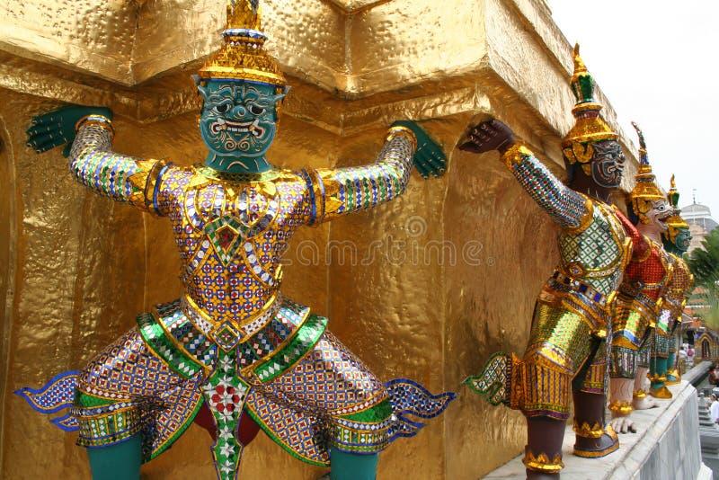 Het Grote Paleis van Bangkok stock afbeeldingen