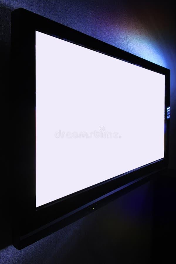 Het grote pasmaHDTV scherm stock afbeelding