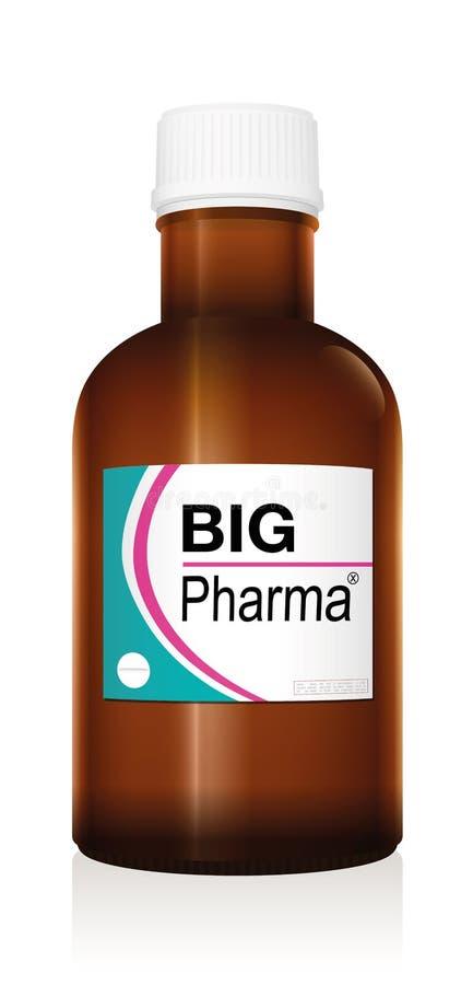 Het grote Pharma-Flesje van de Geneeskundefles royalty-vrije illustratie