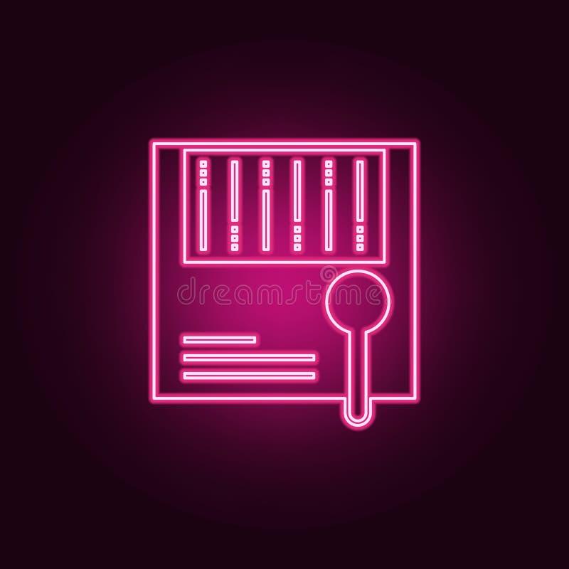 het grote pictogram van de gegevensanalyse E Eenvoudig pictogram voor websites, Webontwerp, mobiele toepassing, informatie vector illustratie