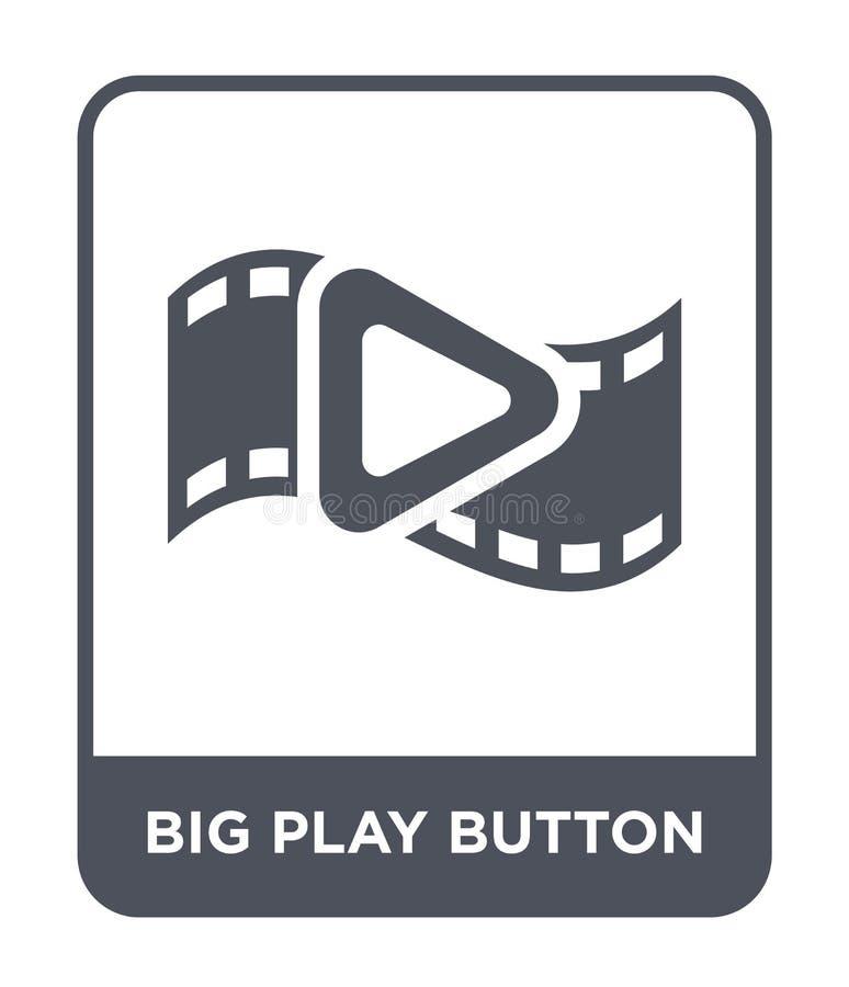 het grote pictogram van de spelknoop in in ontwerpstijl het grote die pictogram van de spelknoop op witte achtergrond wordt geïso royalty-vrije illustratie