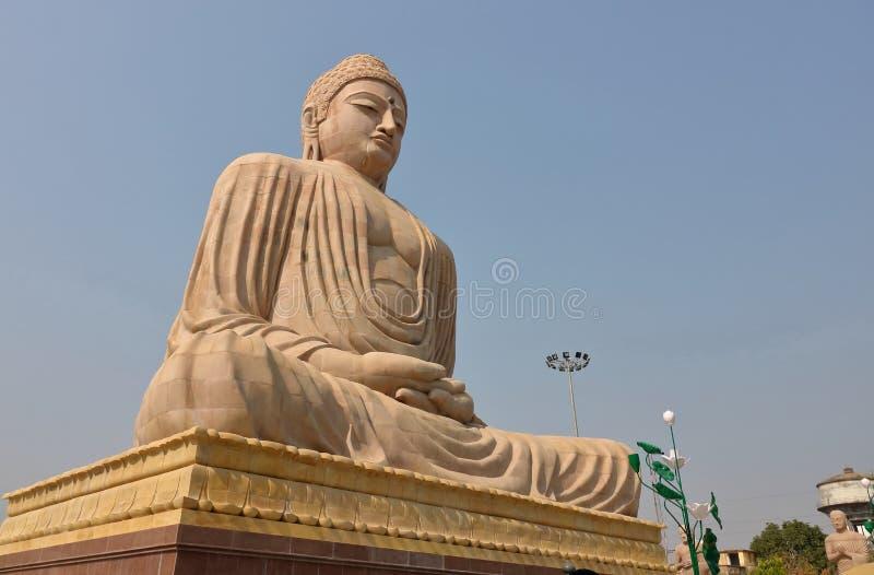 Het grote standbeeld van Boedha, boddh bihar gaya, India stock afbeelding