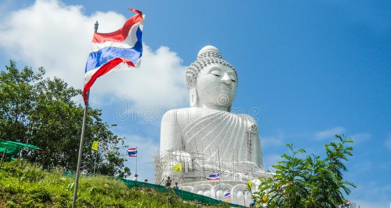 Het grote Standbeeld van Boedha, Phuket, Thailand stock afbeelding