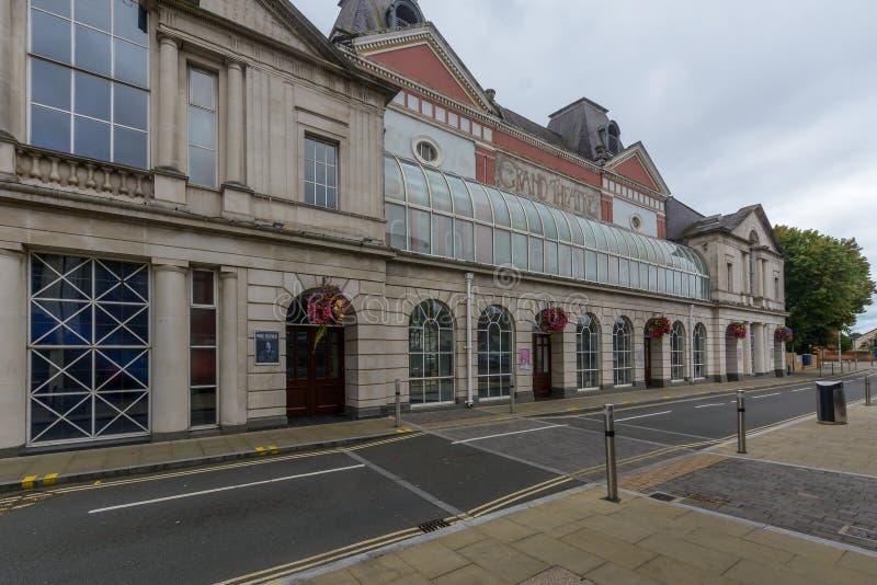 Het Grote Theater van Swansea stock fotografie