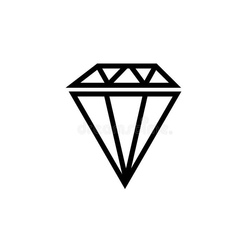 Het grote vectordieteken en het symbool van het diamantpictogram op witte achtergrond, het Grote concept van het diamantembleem w vector illustratie