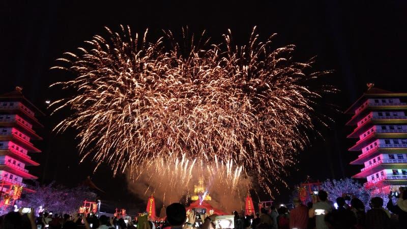 Het grote Vuurwerk stock fotografie