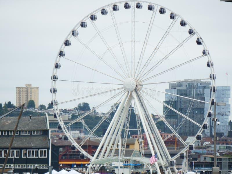 Het Grote Wiel van Seattle stock foto