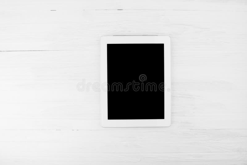 Het grote Zwarte Lege Apparaat van de het Scherm Slimme Tablet met Wit Kader op W royalty-vrije stock foto's
