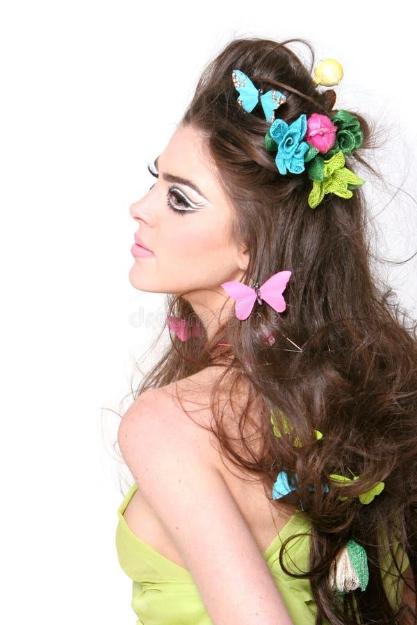 Het haar en de make-up van de lente royalty-vrije stock foto