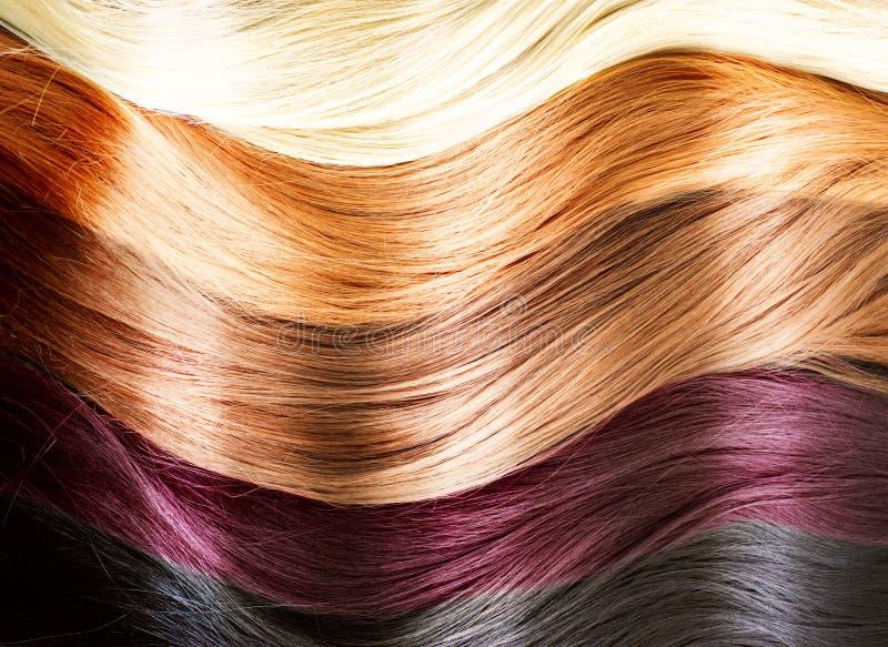 Het haar kleurt Palet stock fotografie