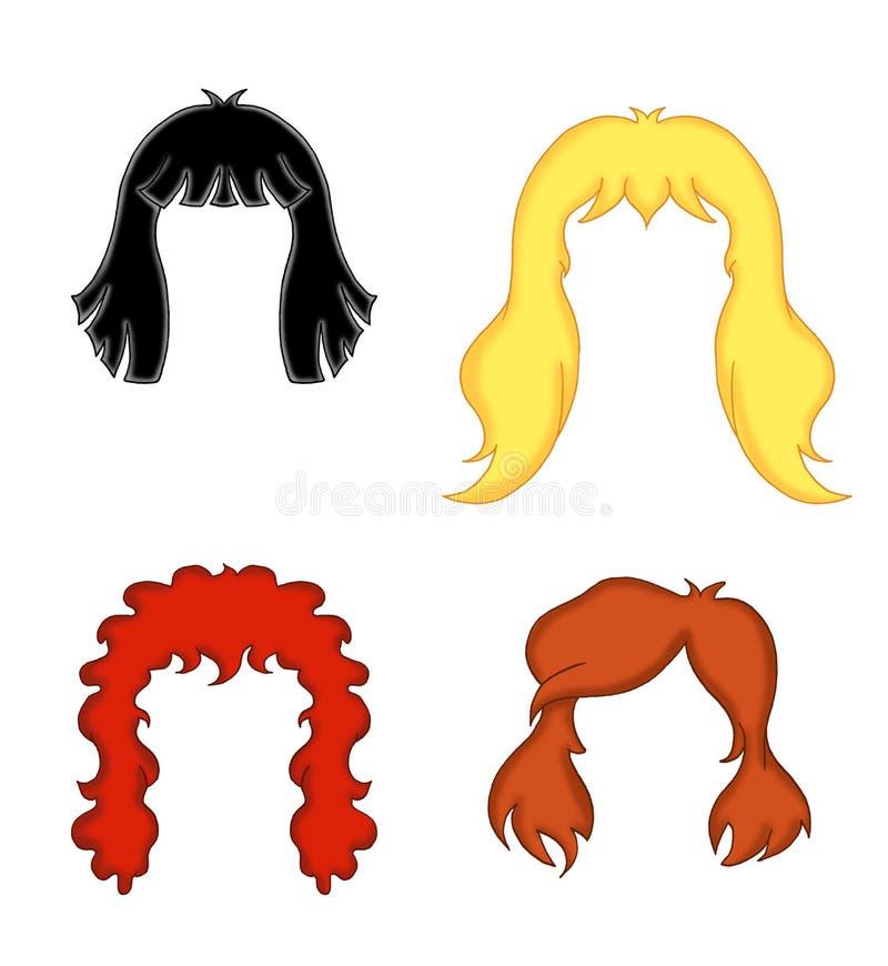 Het haar van de vrouw stock illustratie