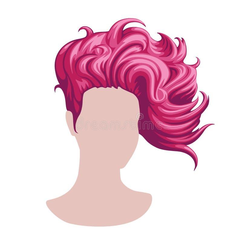 Het haar van modieuze vrouwen stock afbeeldingen