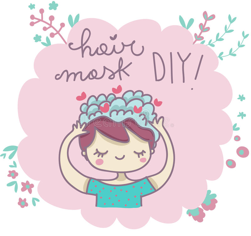 Het haarmasker doet het zelf stock foto