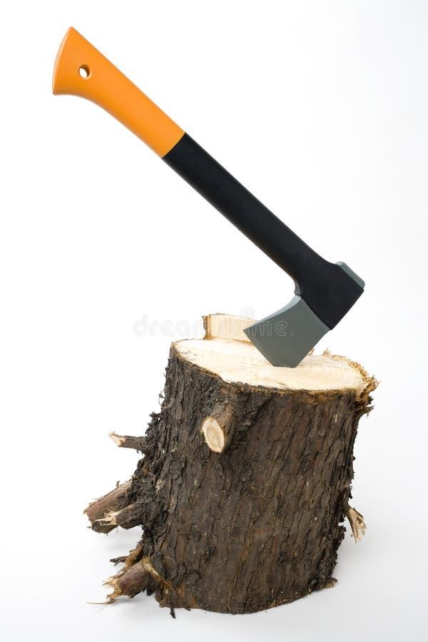 Het hakken van hout stock afbeeldingen