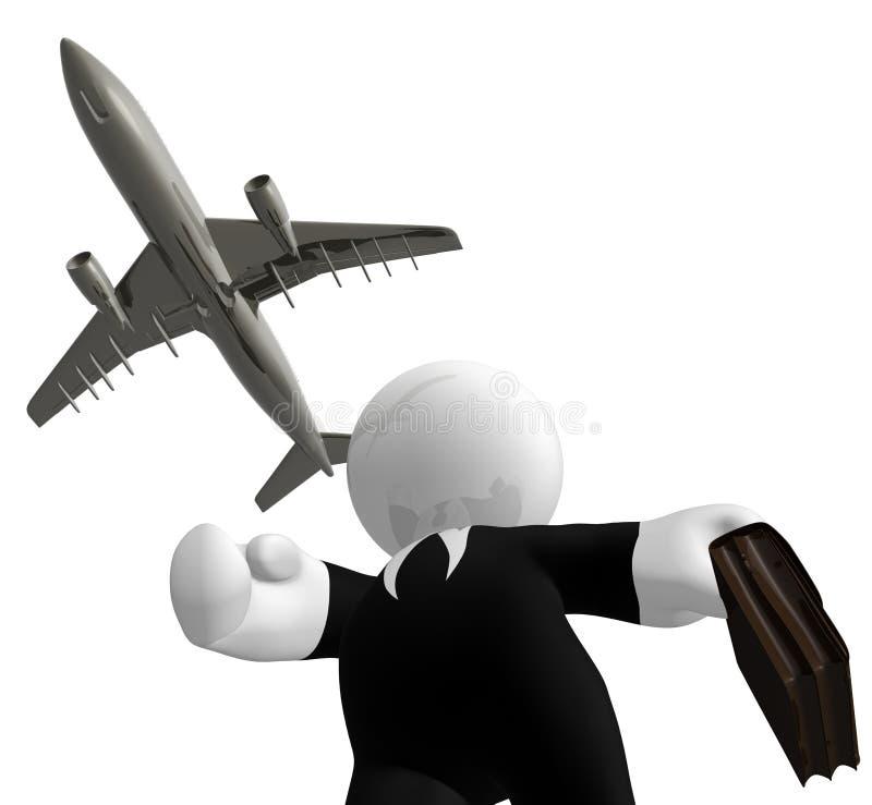 Het halen van luchtvliegtuig royalty-vrije illustratie