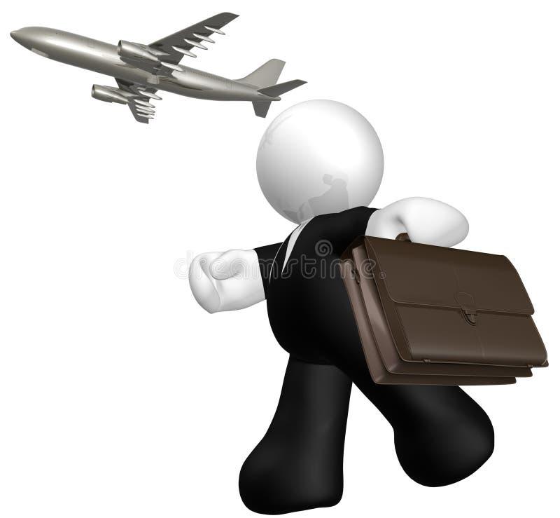 Het halen van luchtvliegtuig stock illustratie