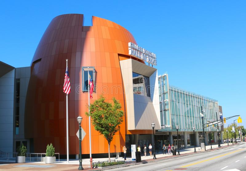 Het Hall of Fame Atlanta van de universiteitsvoetbal stock fotografie