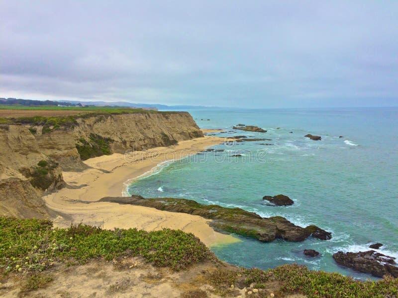 Het halve Strand Californië van de Maanbaai royalty-vrije stock afbeeldingen