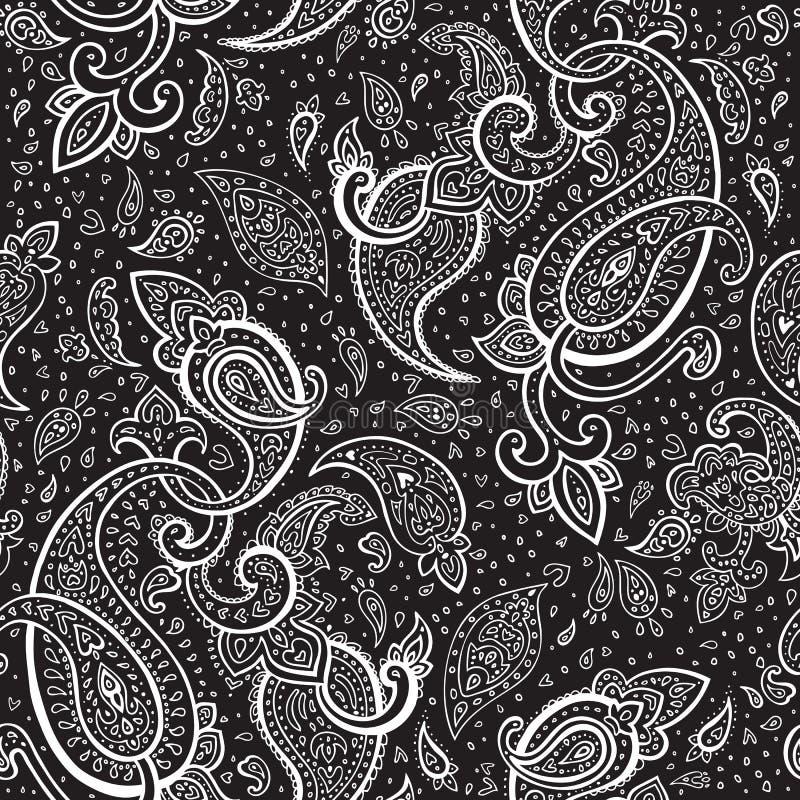 Het hand Getrokken ornament van Paisley. vector illustratie