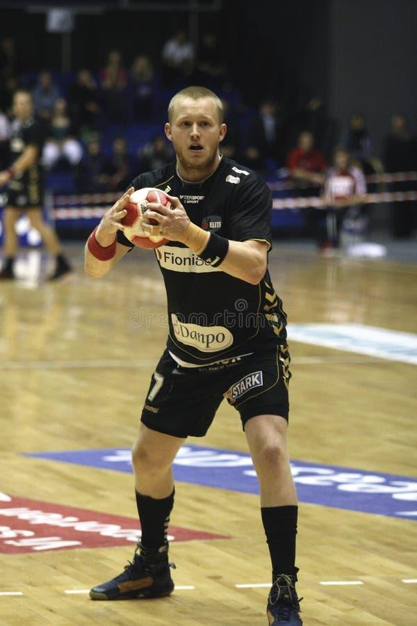 Het Handbal van AaB - Fredericia HK stock fotografie