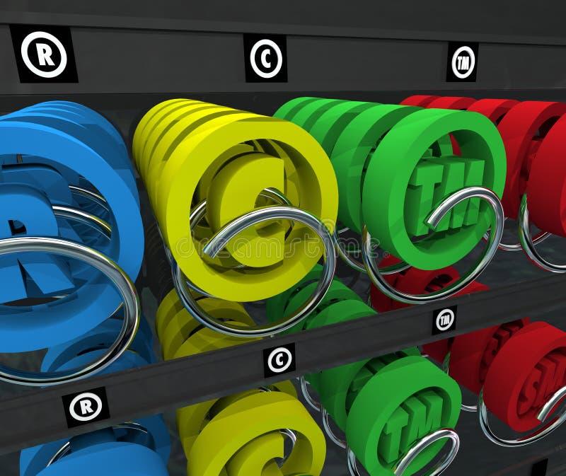 Het Handelsmerksymbool van Copyright van de Intellectuele eigendomAutomaat vector illustratie