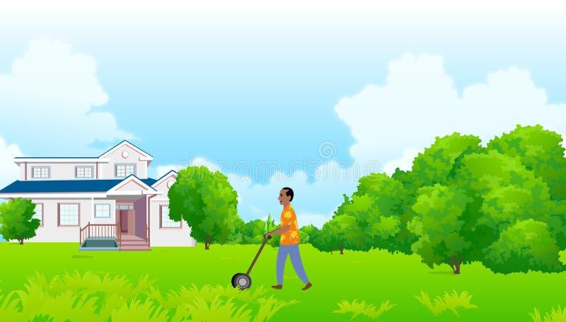 Het handhaven van een Groen Huis royalty-vrije illustratie