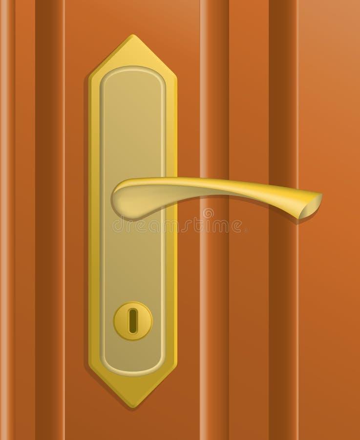 Het handvat van de deur vector illustratie