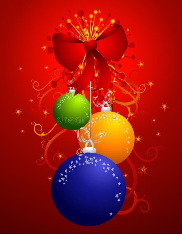 Het hangen siert Kleurrijke Kerstmis 2 stock illustratie