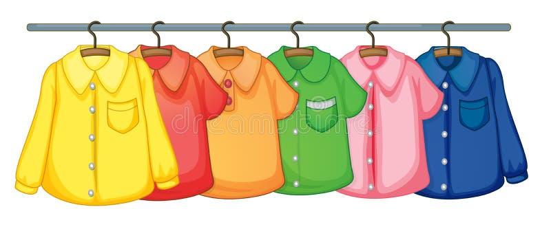 Het hangen van kleren royalty-vrije illustratie