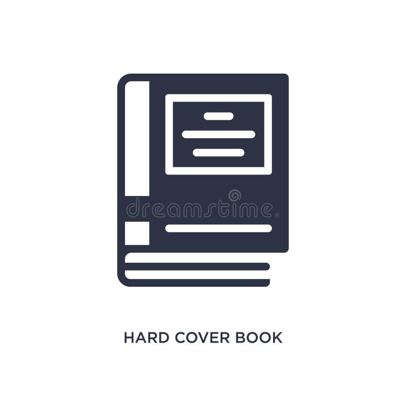 het harde pictogram van het dekkingsboek op witte achtergrond Eenvoudige elementenillustratie van Onderwijsconcept vector illustratie