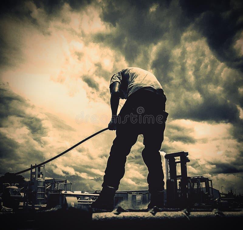 Het harde werkmens stock foto