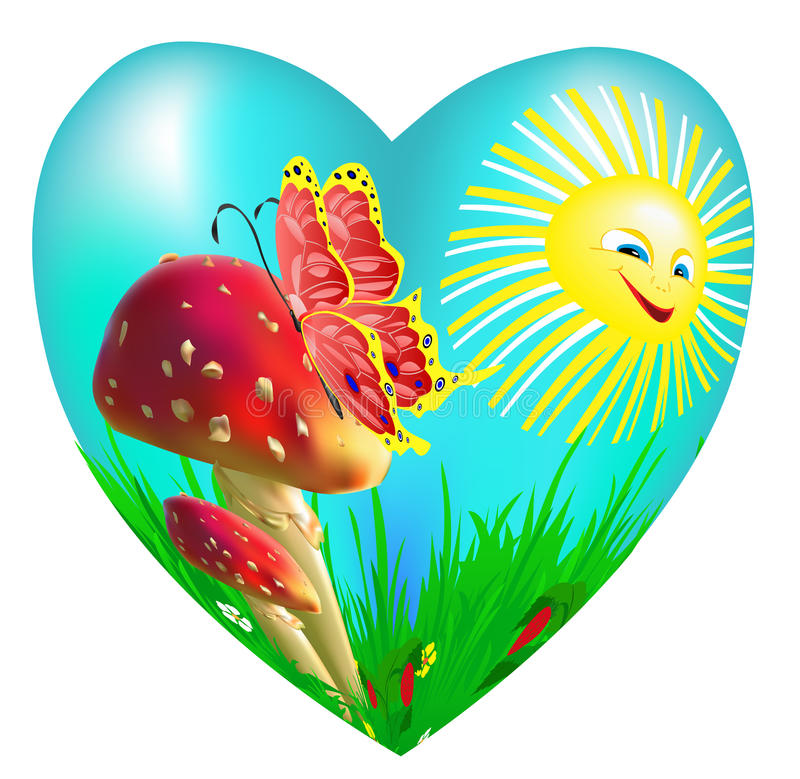 Het hart stock illustratie