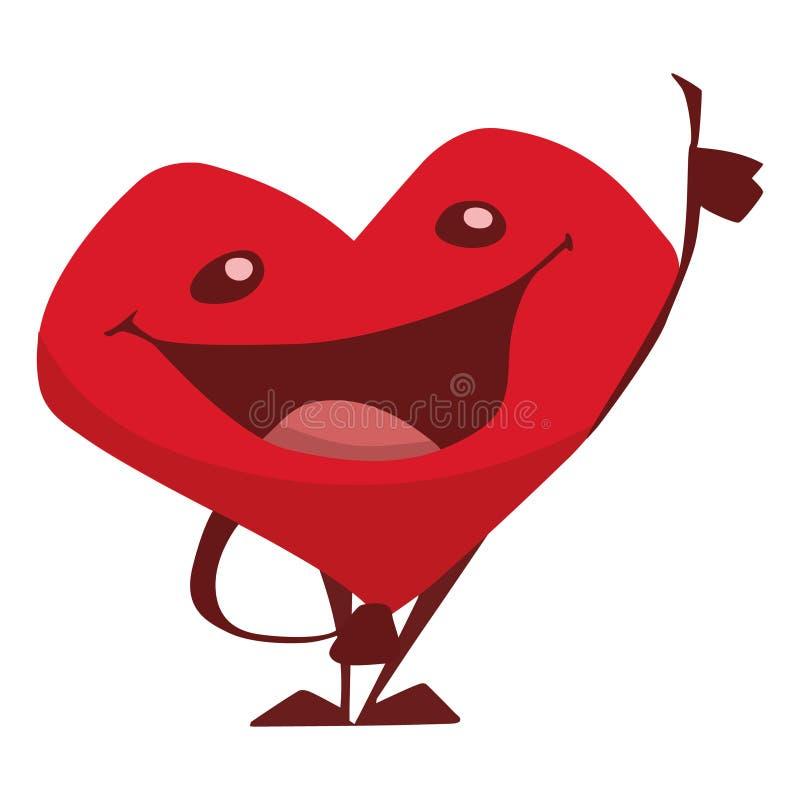 Het hart is al otlino, omhoog beduimelt, otlinostemming, emoties royalty-vrije illustratie