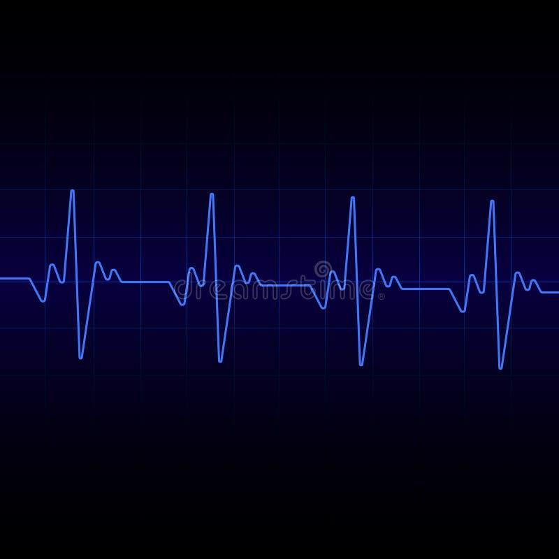 Het hart slaat Cardiogramachtergrond Vector stock illustratie
