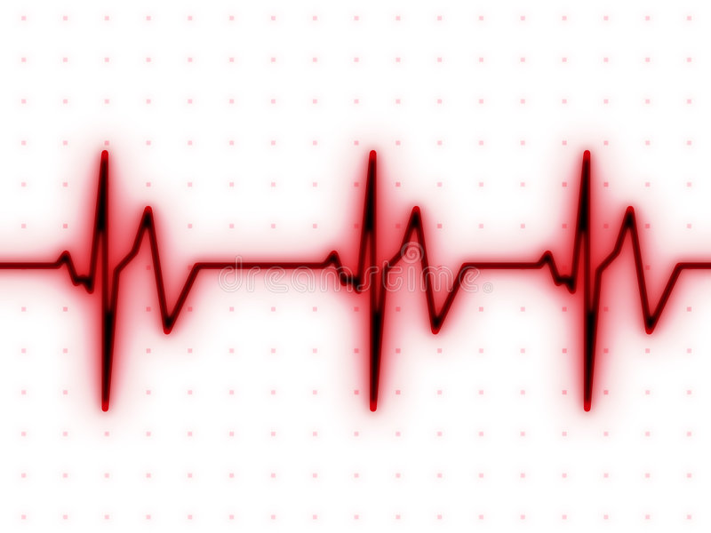Het hart slaat grafiek vector illustratie